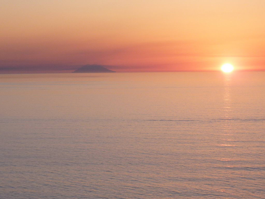 Sunset and Stromboli