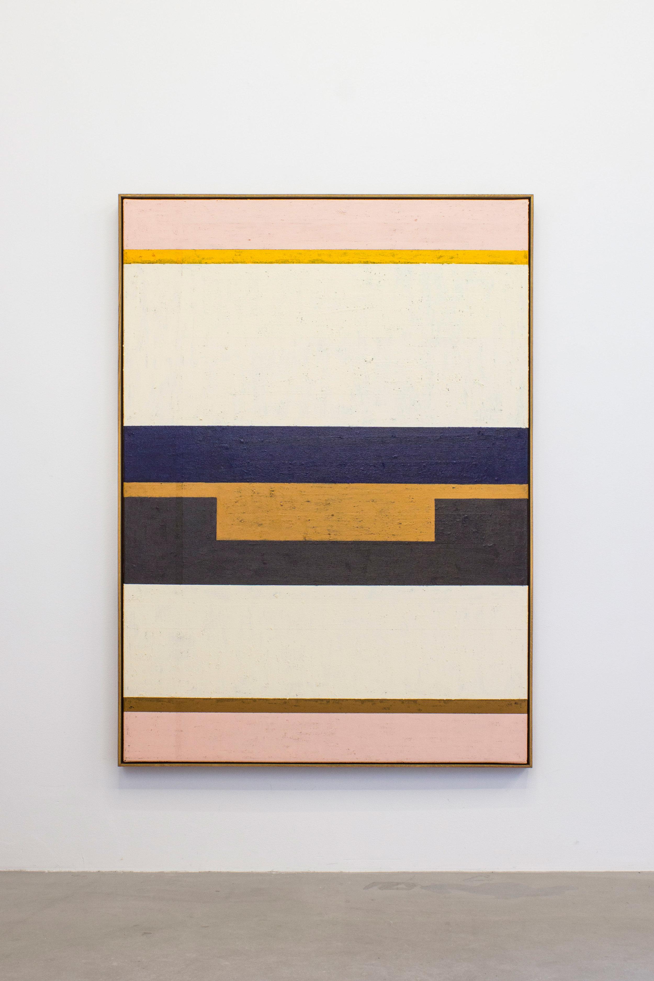 """""""Milk"""", acrylic and oilstick on canvas, 163 x 118 cm."""