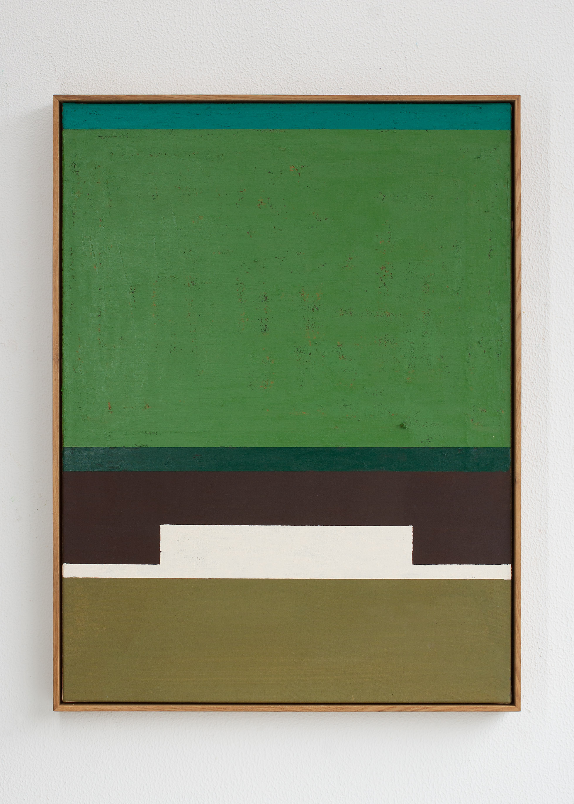 """""""For Martha"""", acrylic and oilstick on canvas, 83 x 63 cm."""