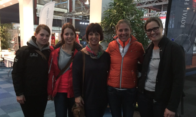 Sunje Thal, Annemarie Van Wily,  Karin Van WIly, Adelinde Cornelissen, and Aletia Reilingh: Host of the Jaxson and Berry Show