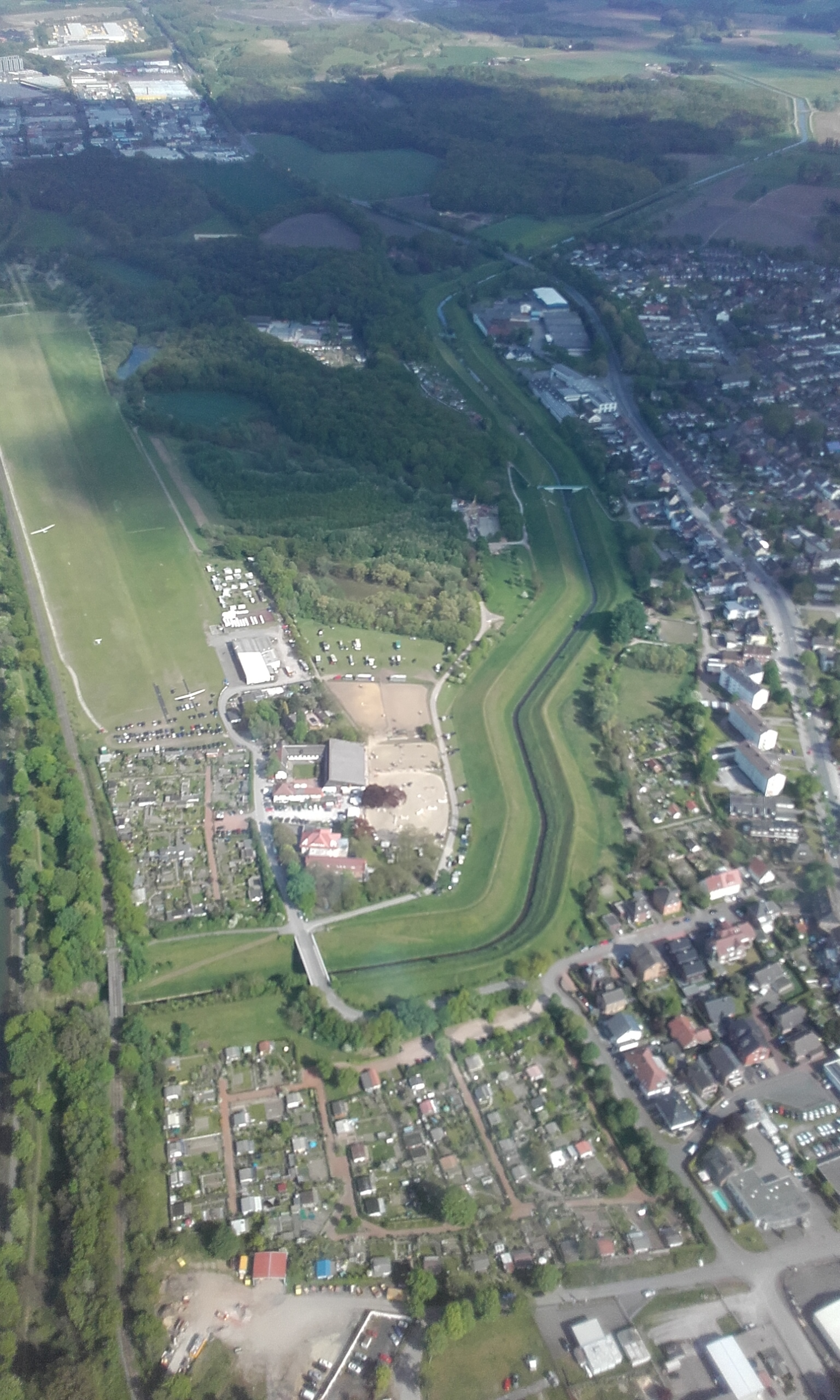 Here is a birds eye view of the horse show grounds.