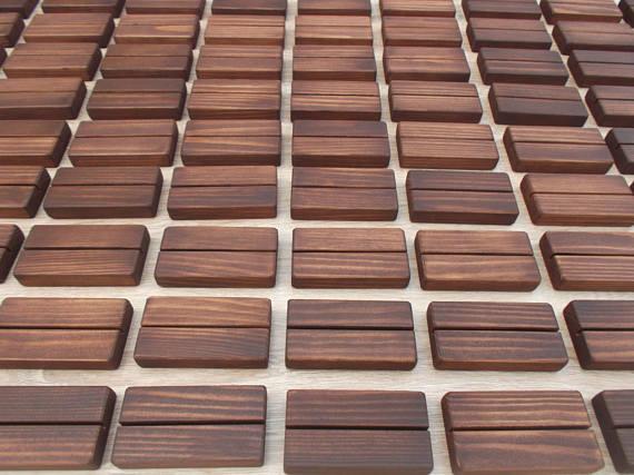 Wooden Block Table Number Holder $3