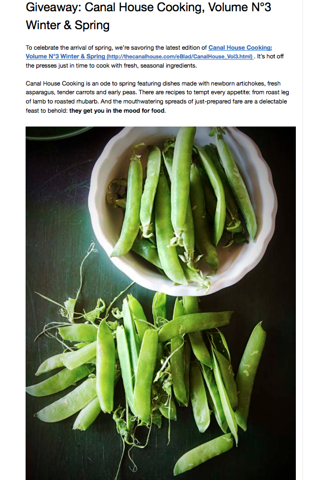 Canal House Cooking Vol #3 is a delicious ode to spring.