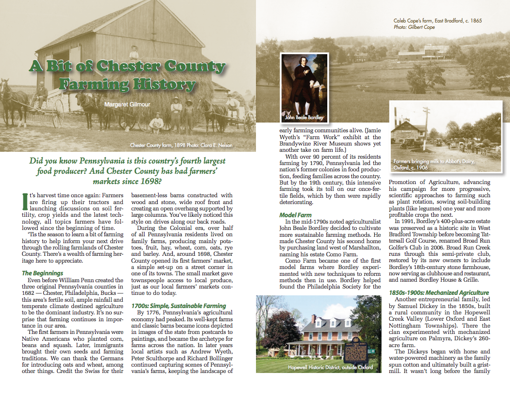 Chester County Farming History