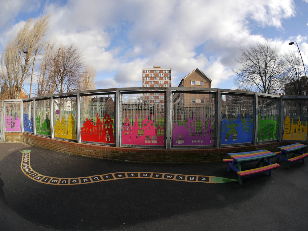 Primary school outdoor art