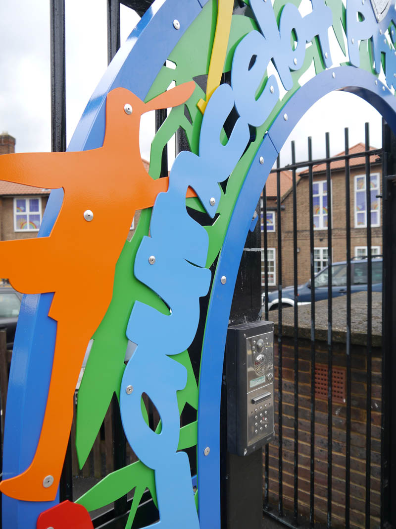 School entrance archway