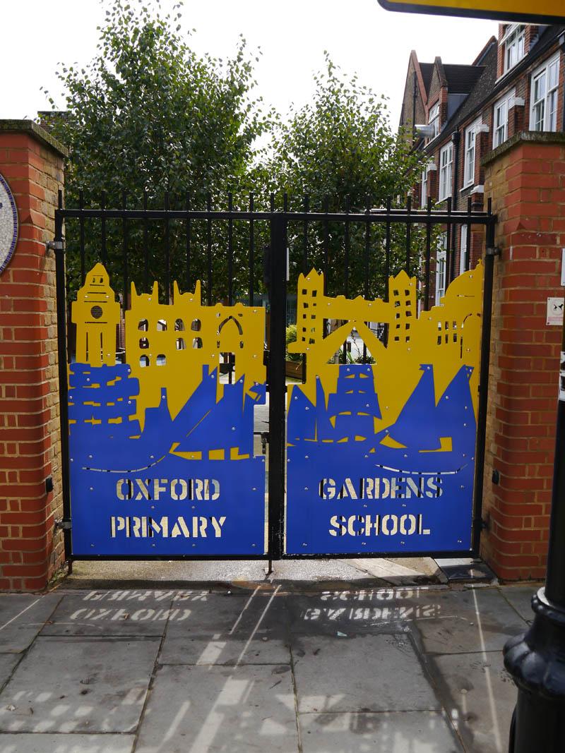 School gate art