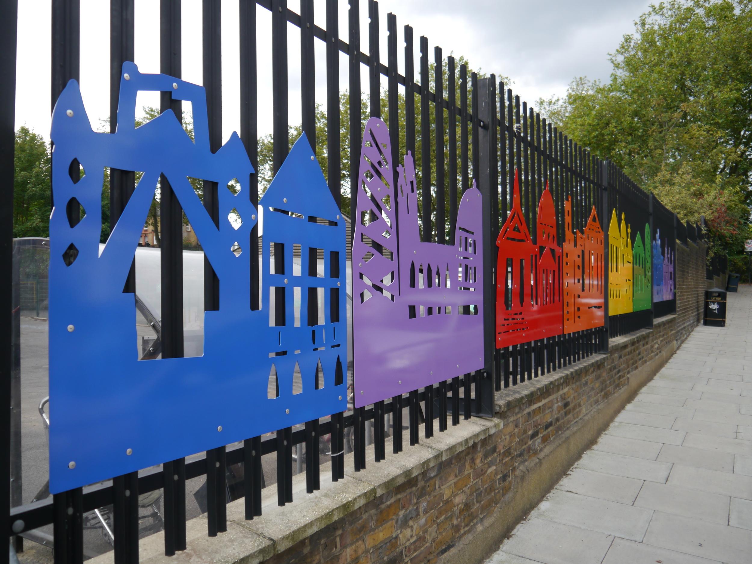Large rainbow panels