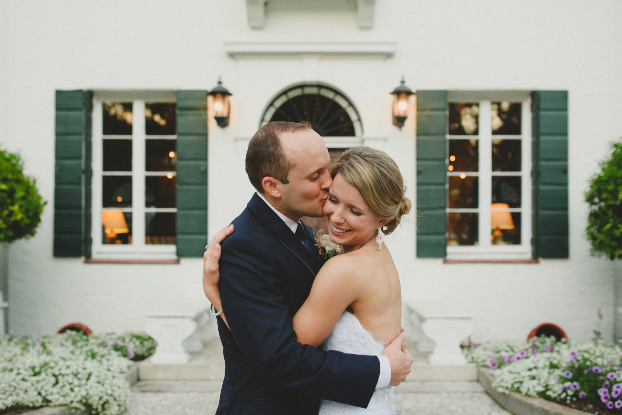 Jekyll Island - Bride and Groom hugging