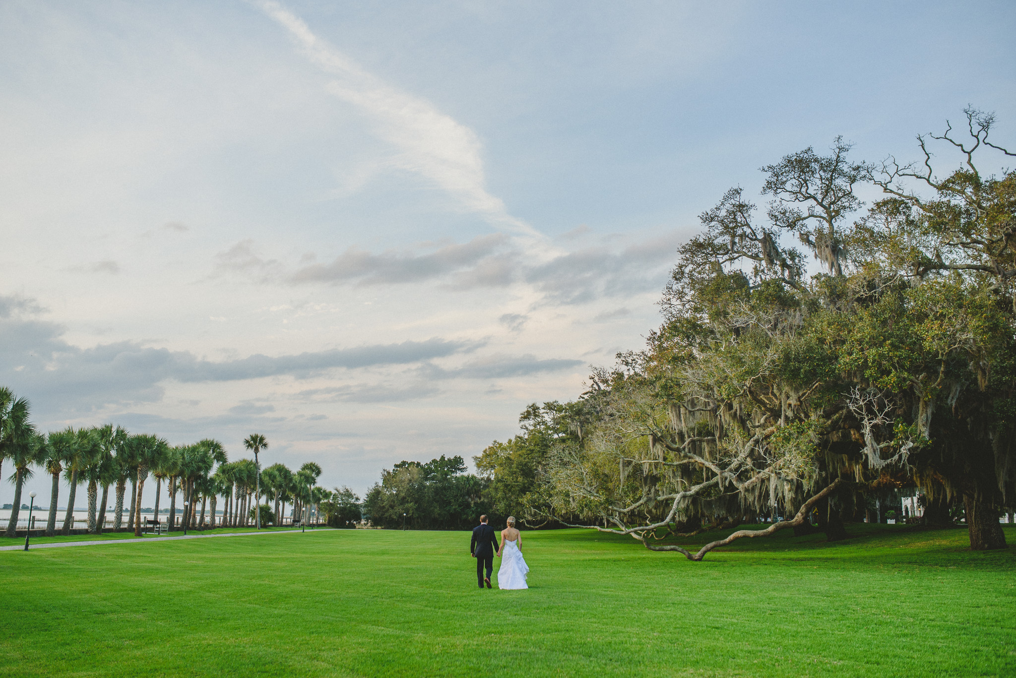 Jekyll Island Wedding - Bride and Groom at Crane Cottage