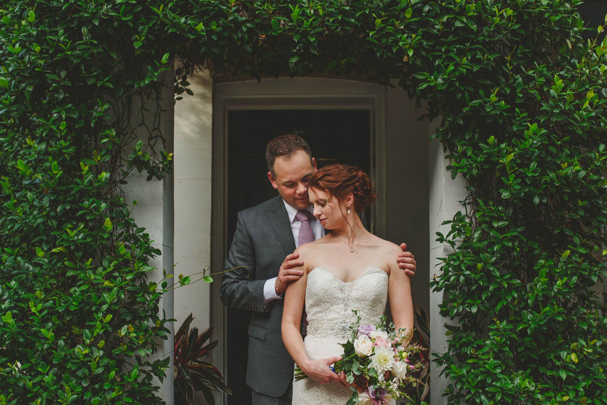 Savannah Wedding Photography - Couple in ivy
