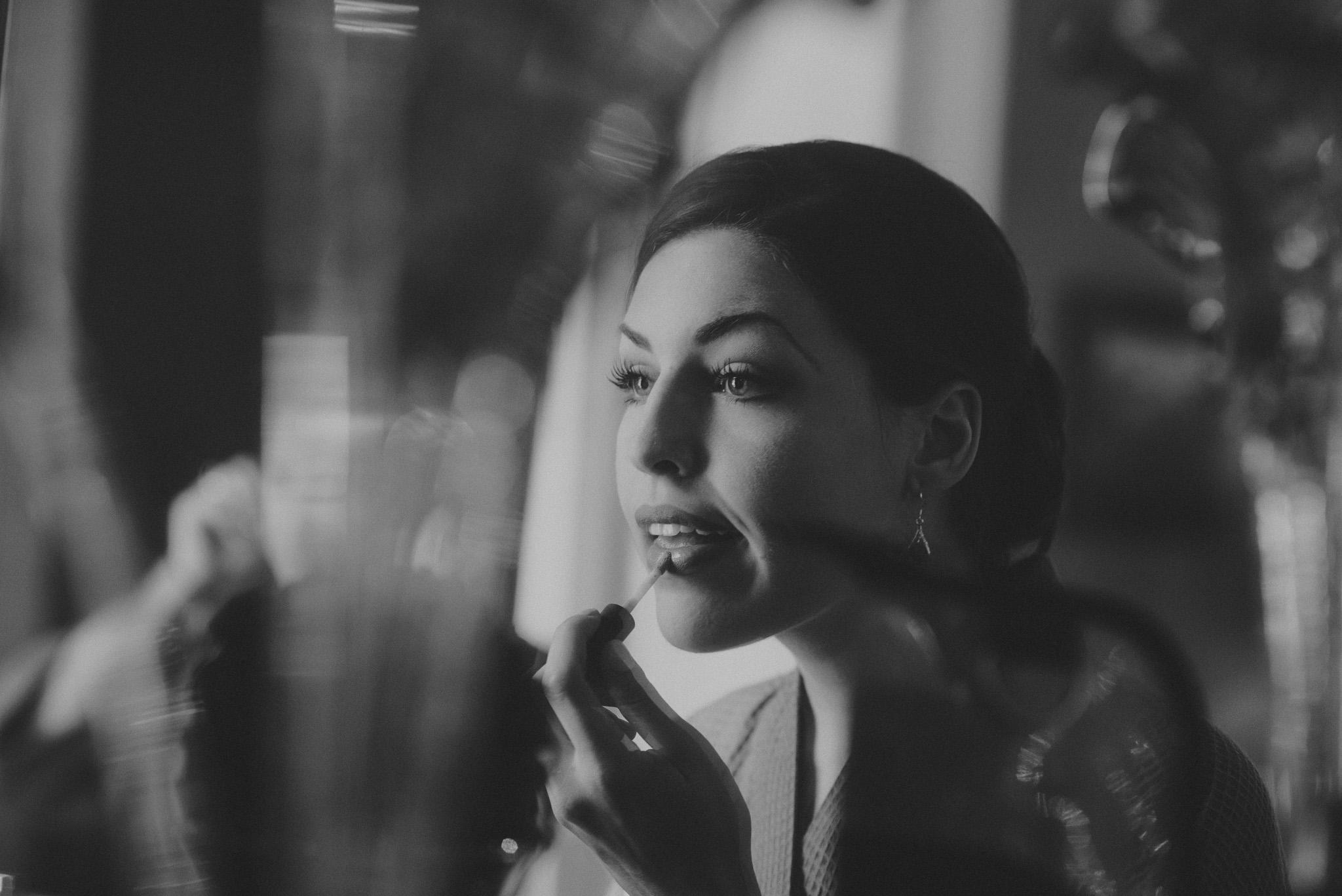 Savannah Photographer - Bridesmaid in mirror