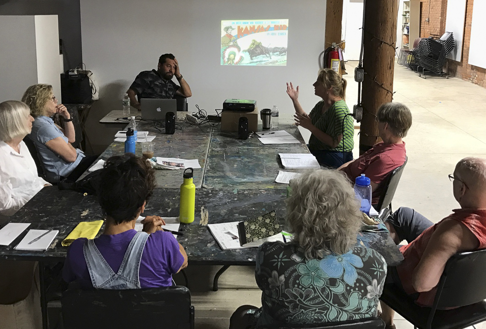 Workshop with the Essex Art Center in Lawrence, Massachusetts.