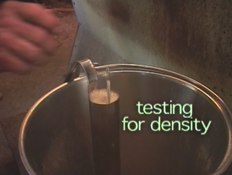 We make sure it is up to standard by testing its density.