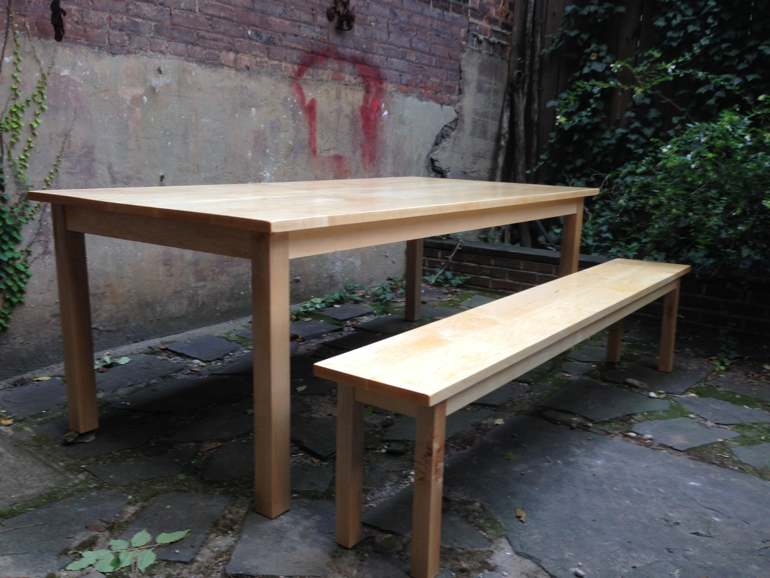 Maple Table and Bench