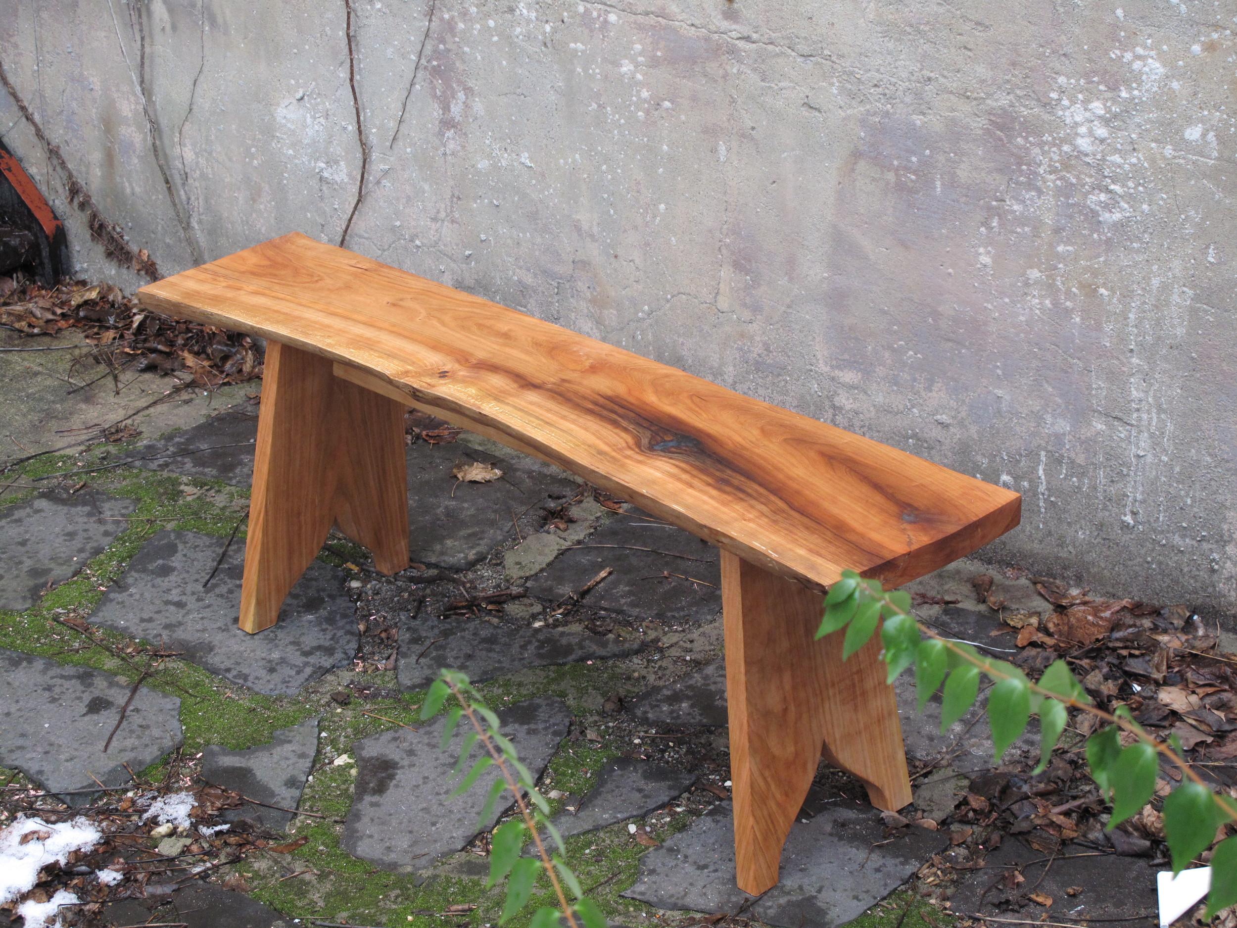 Cherry Plank Bench