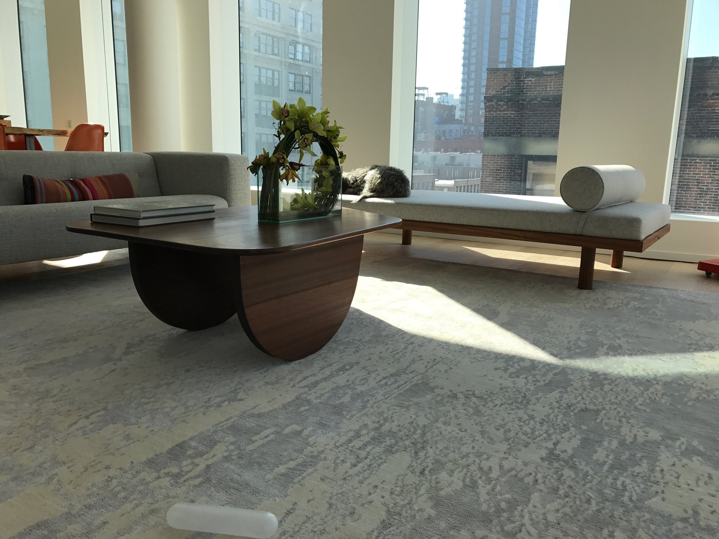 Sapele Coffee Table and Daybed