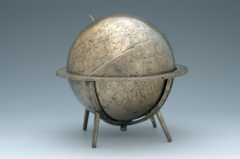 Celestial Globe, by Ja'far ibn 'Umar ibn Dawlatshah al-Kirmani, Persian, 1362/3; MHS inv. 44790