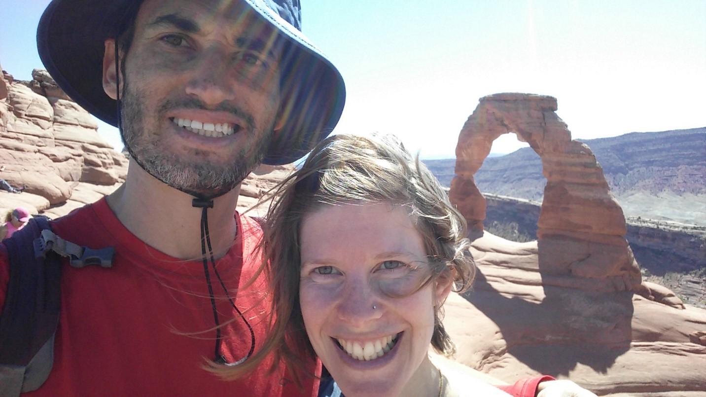 At Arches National Park with my amazing husband, Avishai