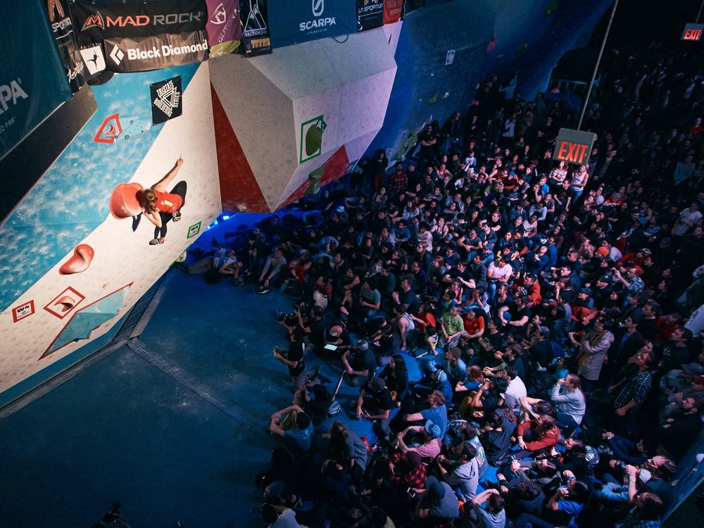 Our very own comp series, the Tristate Bouldering Series, which includes Feats of Strength, finished off its second season with wins from Alex Puccio and Charlie Schreiber. Photo: Joshua Pestka