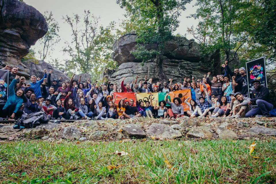 Climbers at the Color the Crag Festival at Horse Pens 40 // Source:  Color the Crag Facebook