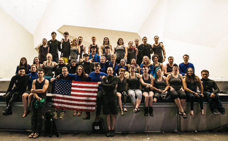 Largest USA paraclimbing team in history // Photo via  Instagram