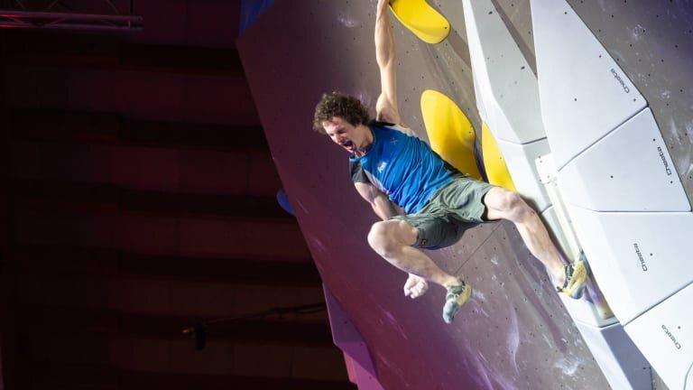 Adam Ondra at the World Cup Final // Photo via  Climbing Magazine