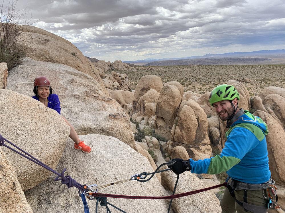 The Cliffs community climbing in Joshua Tree