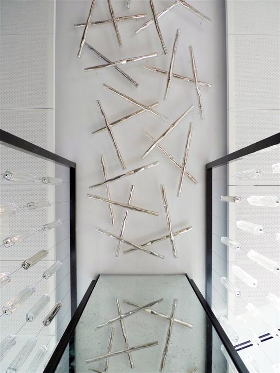 sei studio glass chandelier bank of america