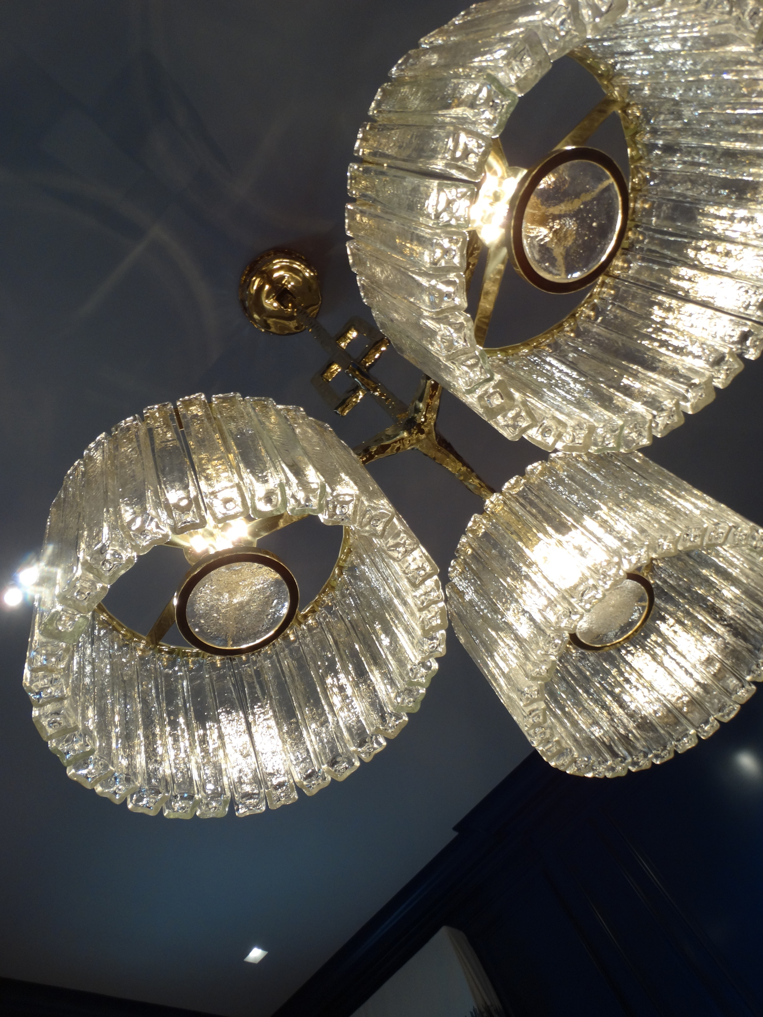 sei studio glass chandelier private residence