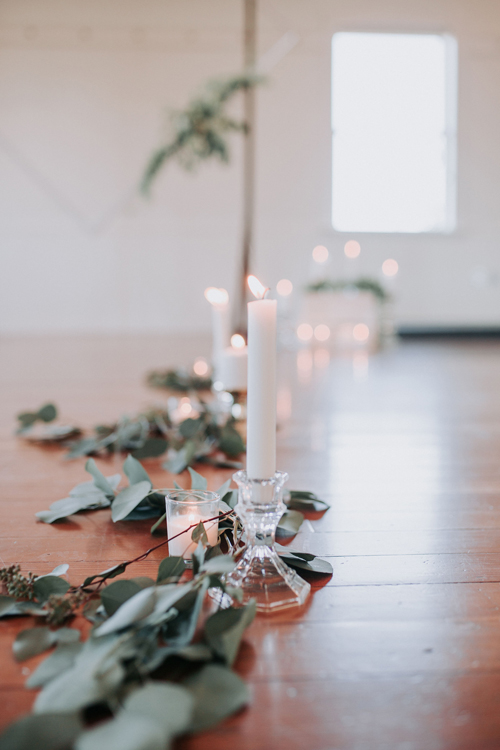 Wedding Candles and Garland