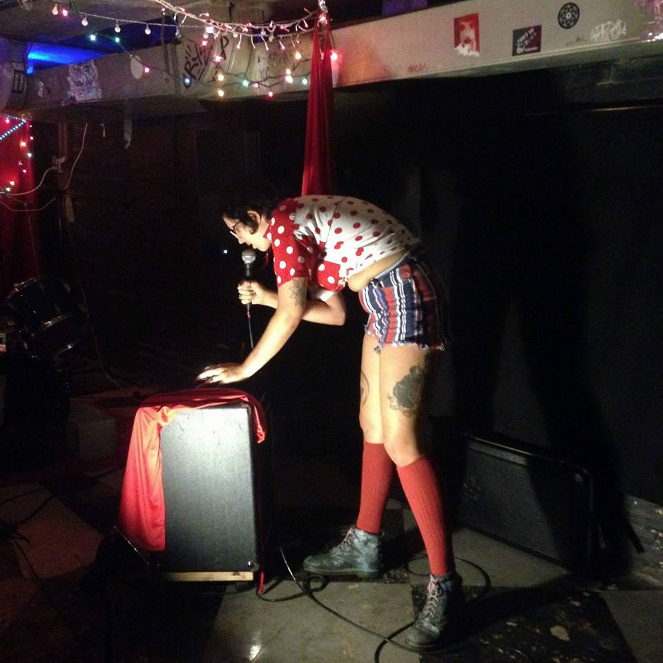 Raine playing at All Nite Diner in Philly (photo cred Woven In)