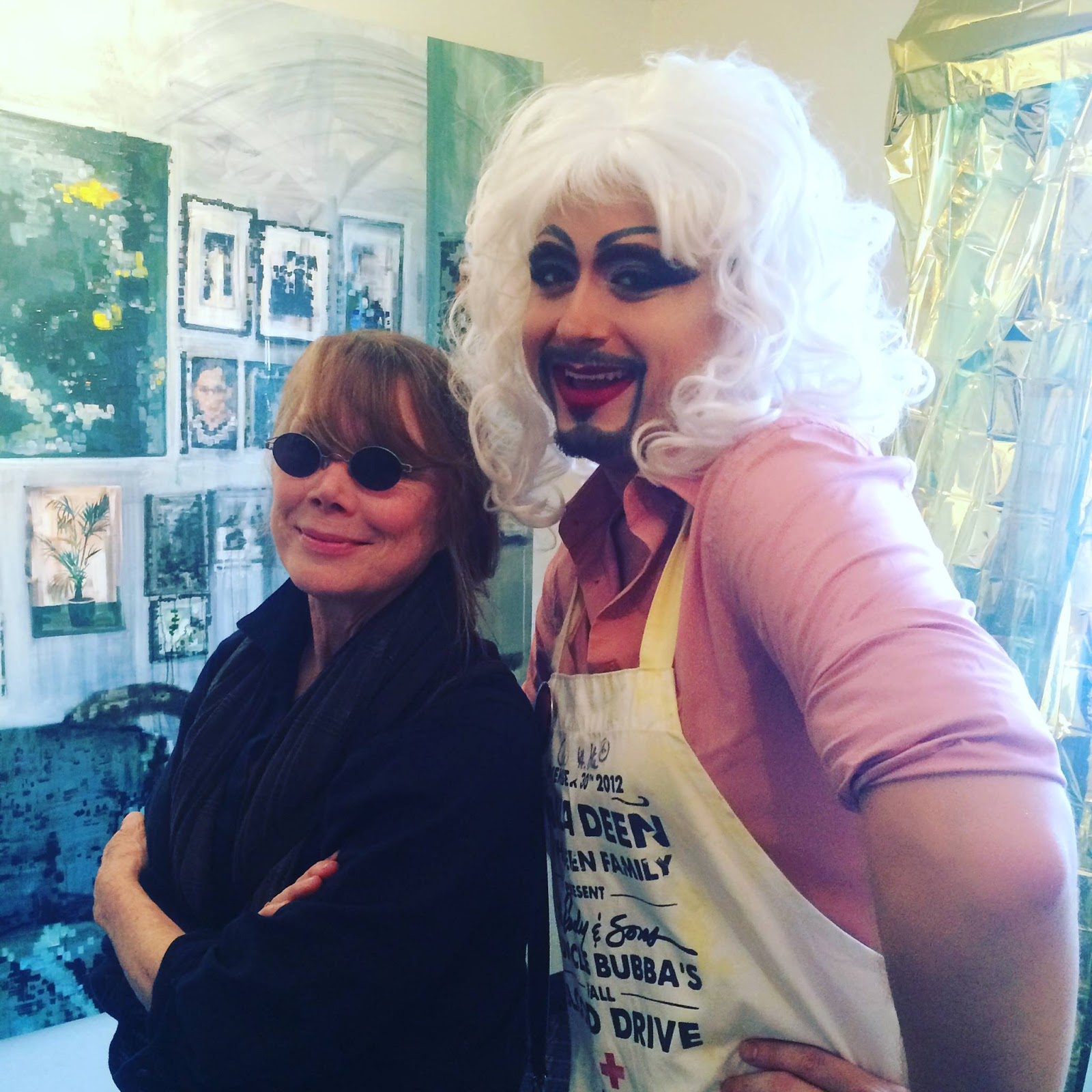 Me and Sissy Spacek at The Satellite Show's Artist-Run in Miami, 2015
