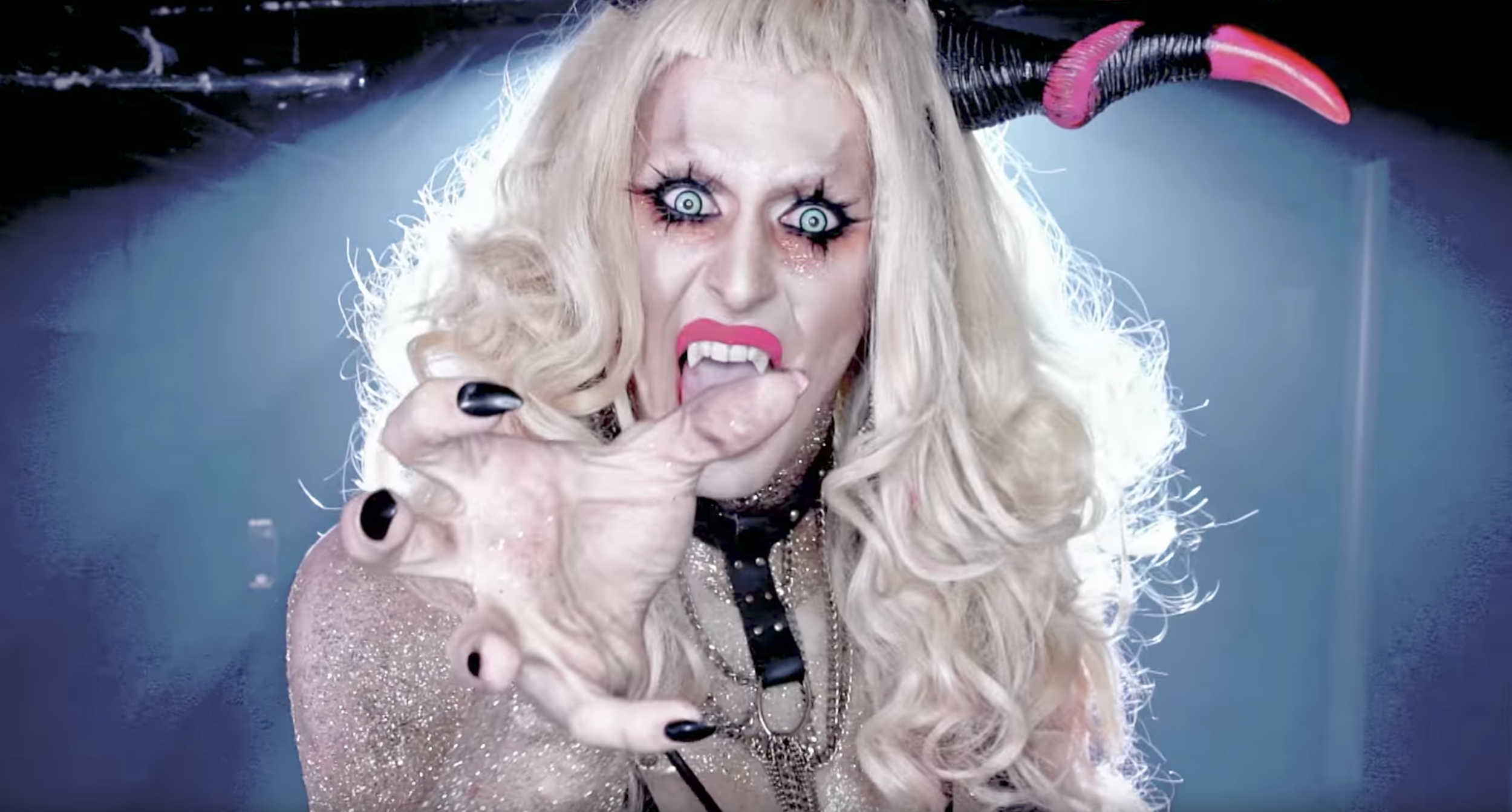 Biqtch Puddin, also a Mary's regular, has some experience in filth, working closely with Savannah's  The House of Gunt .