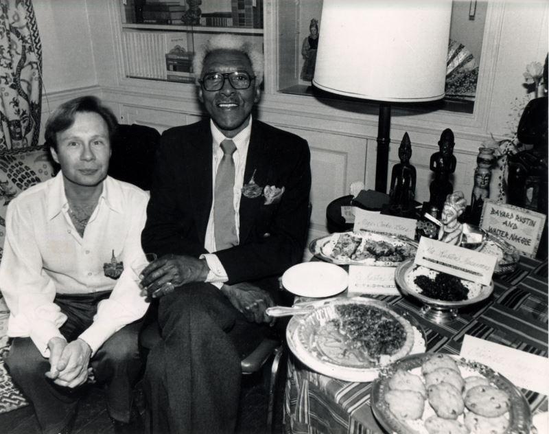 Bayard Rustin with his partner, Walter Naegle