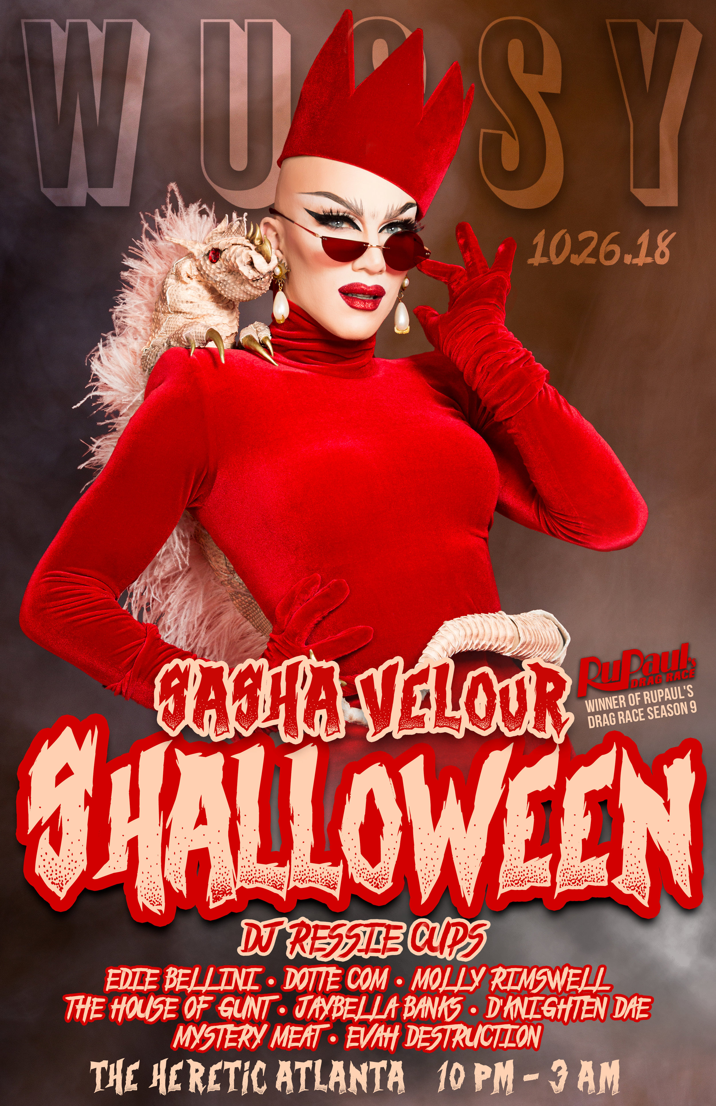Shalloween with Sasha Velour - Dance Party + Drag Show + Costume Extravaganza!