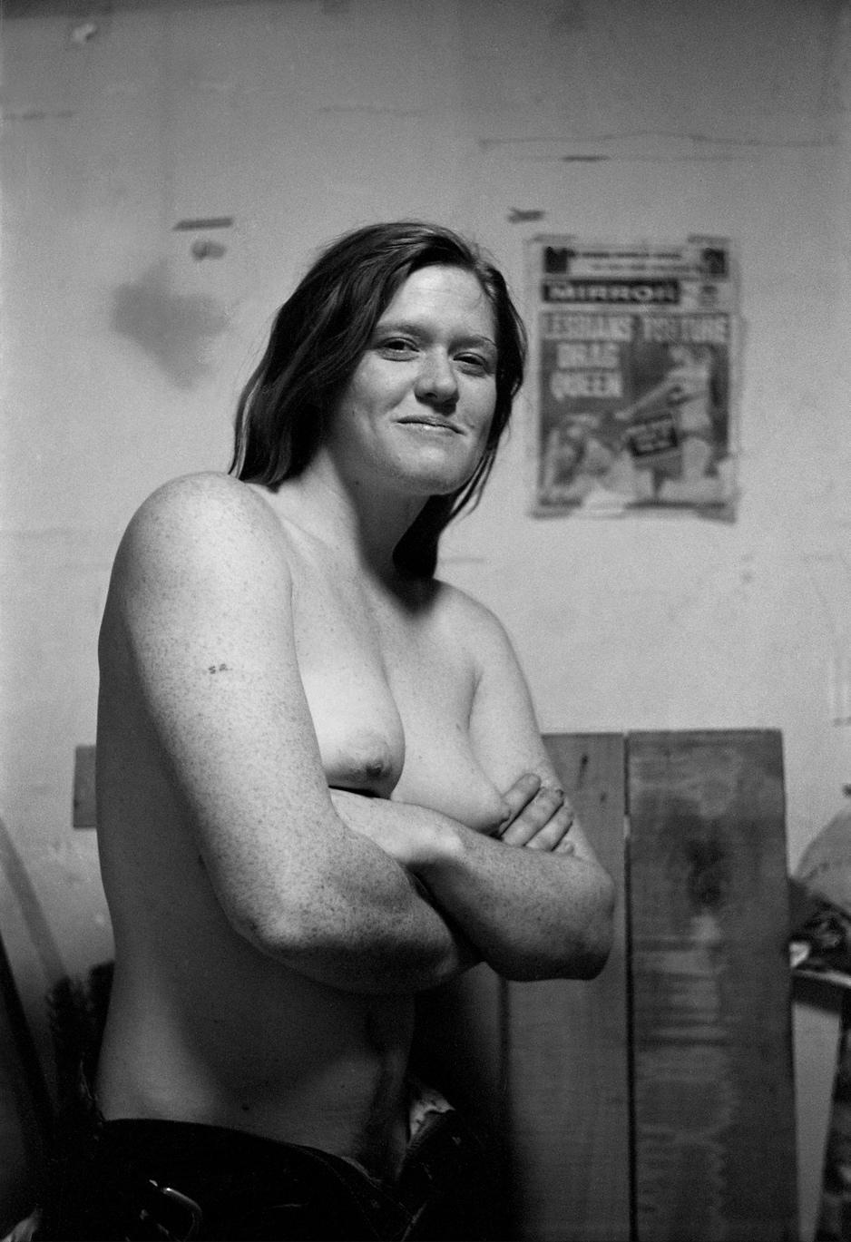 "Donna Gottschalk, ""Marlene, E. 9th St."" (1969), silver gelatin print (2017) (courtesy Leslie-Lohman Museum of Gay and Lesbian Art)"