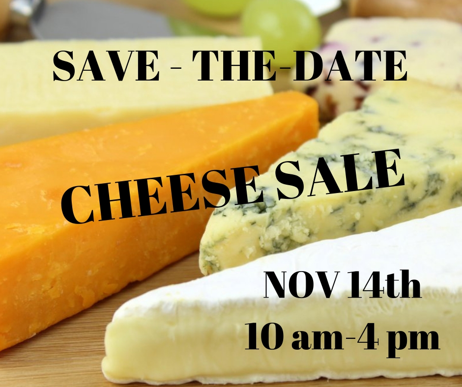 Cheese Sale Save the Date