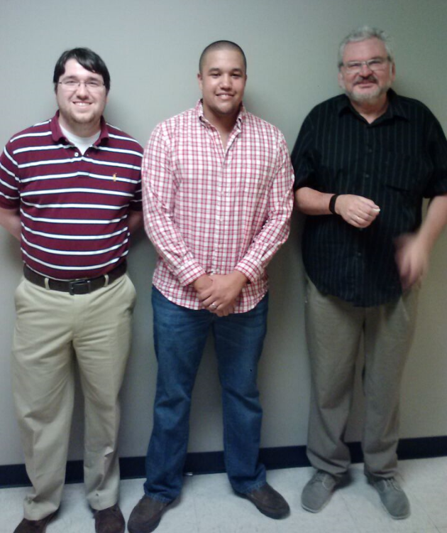 From left: Cole Phillips, Matthew Reeves, and Dr. George Pinchuk. Photo by Chris Richardson.