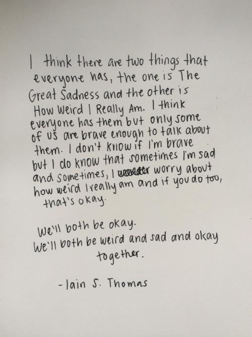 ian thomas I wrote this for you