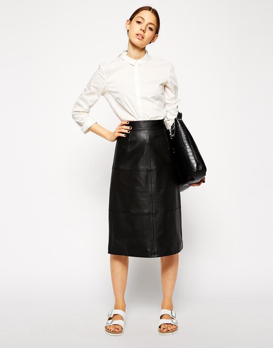 Black Leather Skirt ASOS