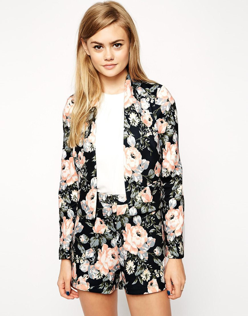 dark floral suit