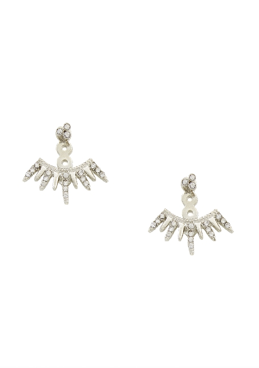 Crystal Detailed Spiked Ear Jacket Earrings available  HERE.