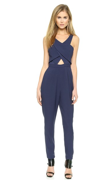 Finders Keepers Navy Jumpsuit