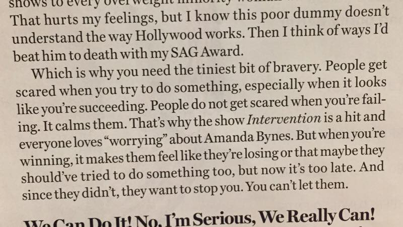 Mindy Kaling quote Glamour