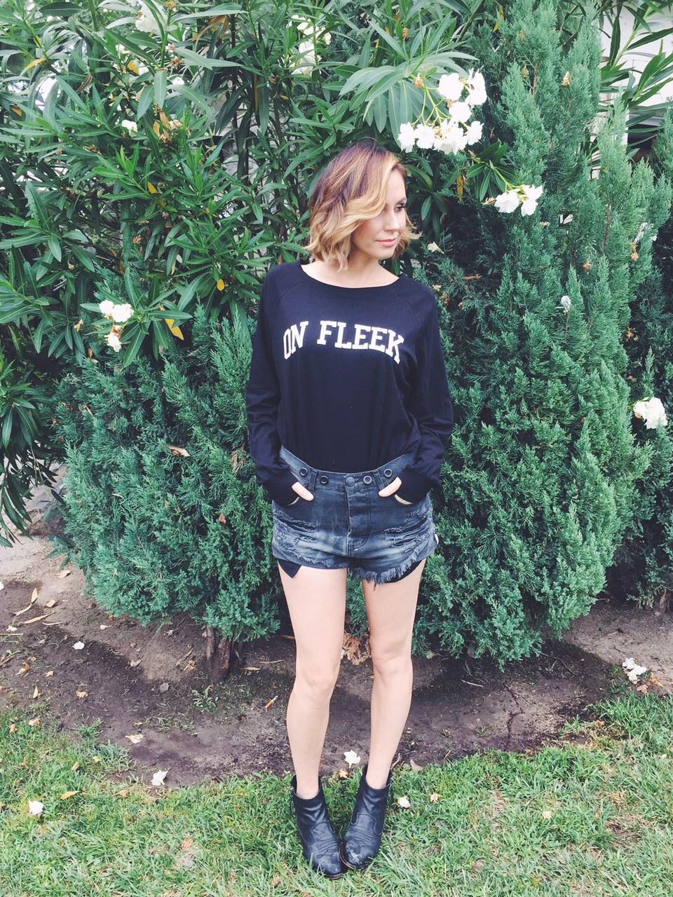 Keltie Colleen Sugar and Bruno On FLEEK sweater