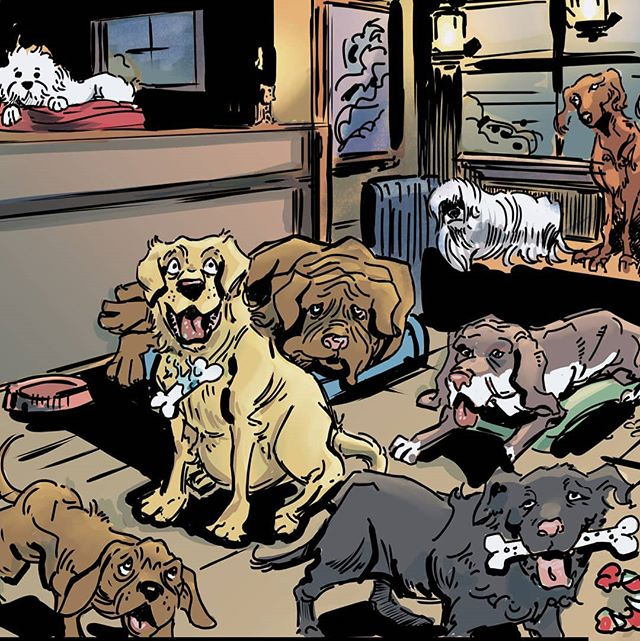 So many dogs. #dogs #artistofinstagram #art #illustration #drawing #artoftheday #comics #comicart #dogslife #dogsofinsta #indiecomics #puppy #comicbooks #digitalcolor