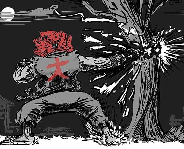 Quick warm up, keep training. #streetfighter #akuma #drawing #training #instahub #instacomics #art #comics #comicart #makecomics #sketch