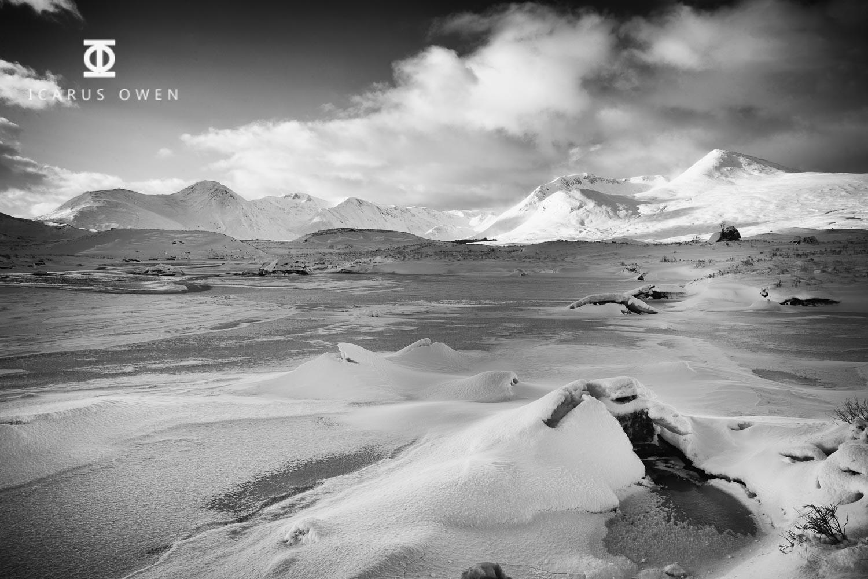 Loch Ba frozen in Glencoe