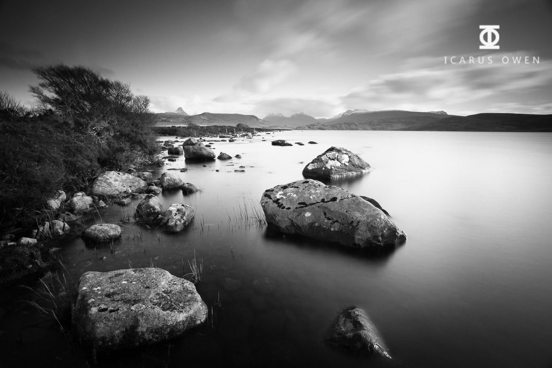 Loch Osgaig in Assynt, Scotland.